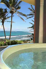 Jacuzzi over looking the beach