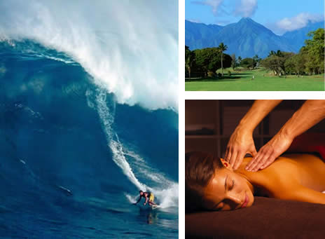 Complimentary massage, surf lesson, or Maui Country Club privileges